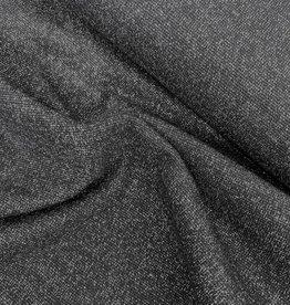 Boordstof - Glitter - Zwart - Zilver
