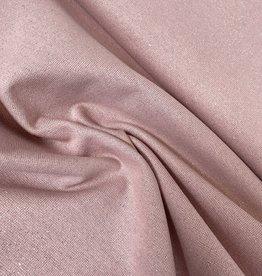 Boordstof - Glitter - Rose - Zilver