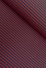 Tricot - Streepjes - Rood - Blauw