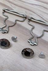 Salopette sluiting - Zilver - 2 stuks