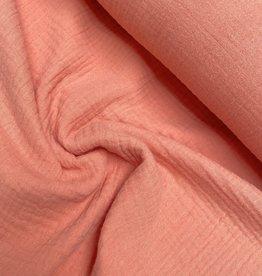 Double Gauze GOTS - Peachy Pink
