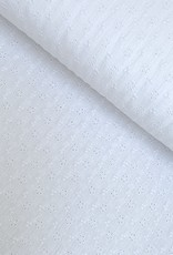 Double Gauze Broderie - Wit