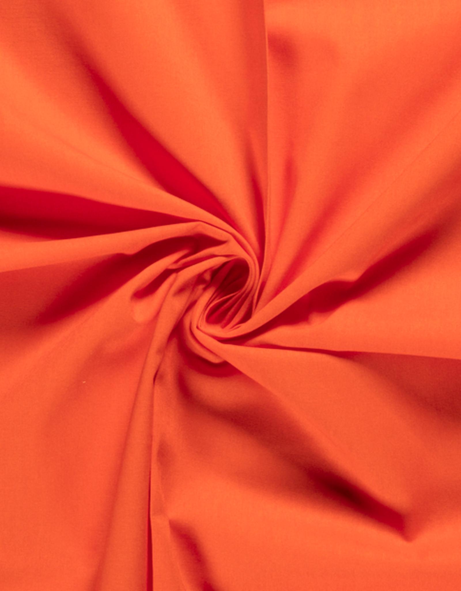 Katoen - Effen - Koraal Oranje