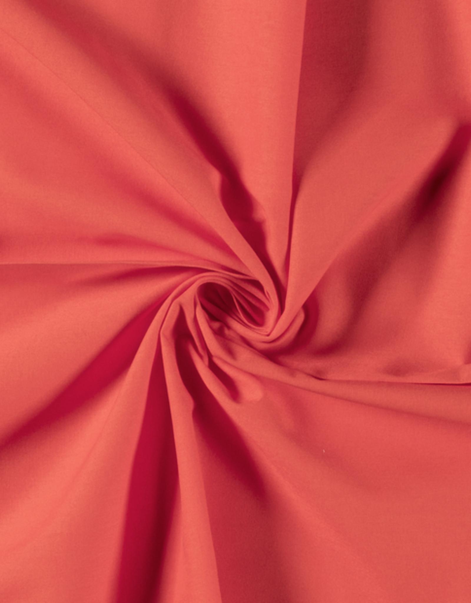 Katoen - Effen - Koraal Rose