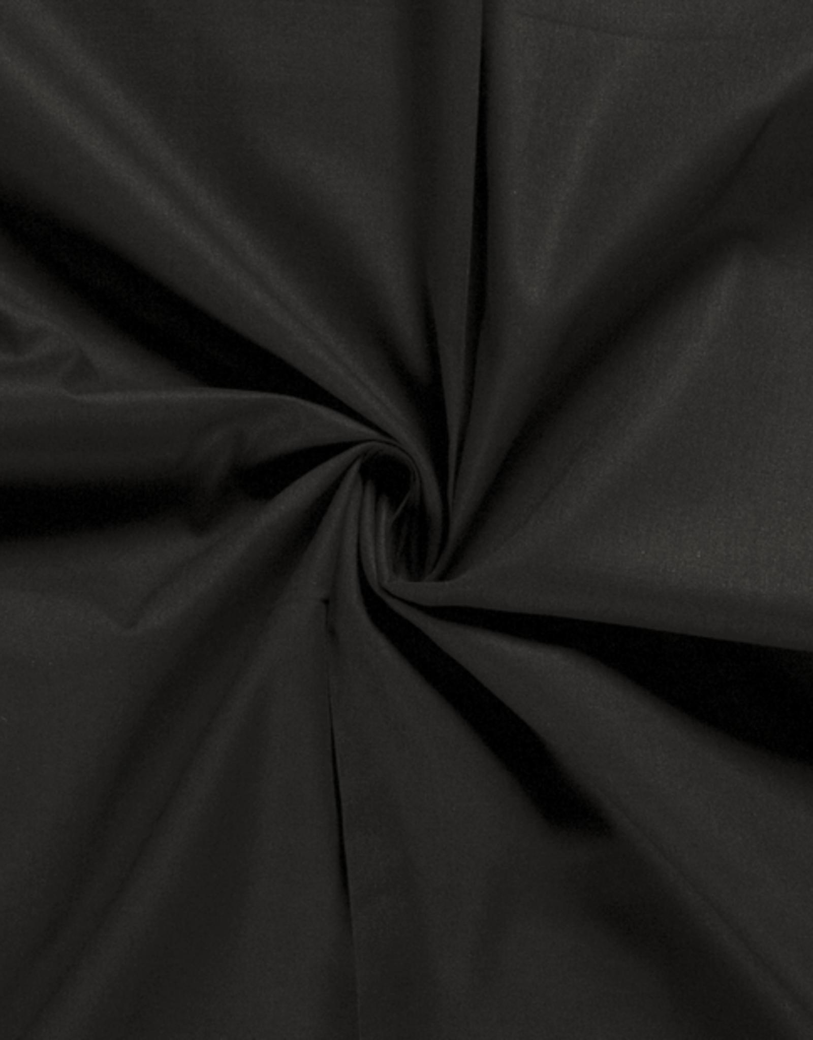 Katoen - Effen - Zwart
