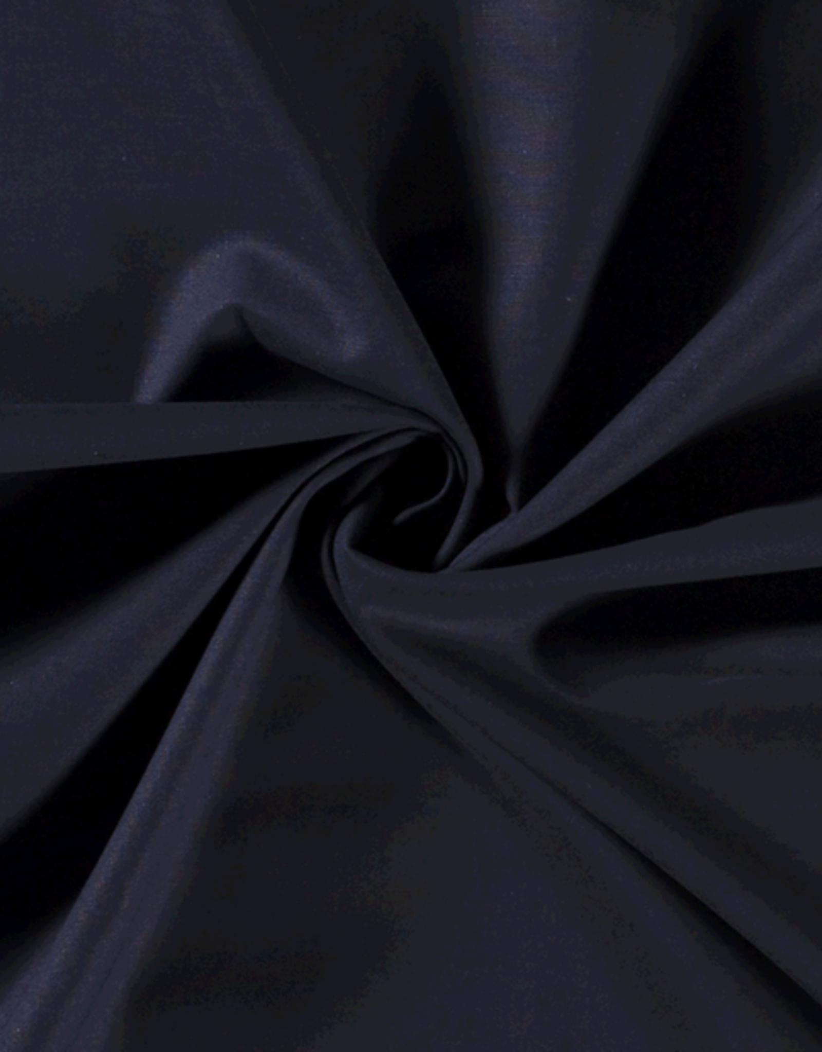 Katoen - Effen - Marine blauw