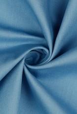 Katoen - Effen - Jeans blauw