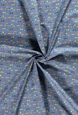 Katoen - Libelle - Blauw