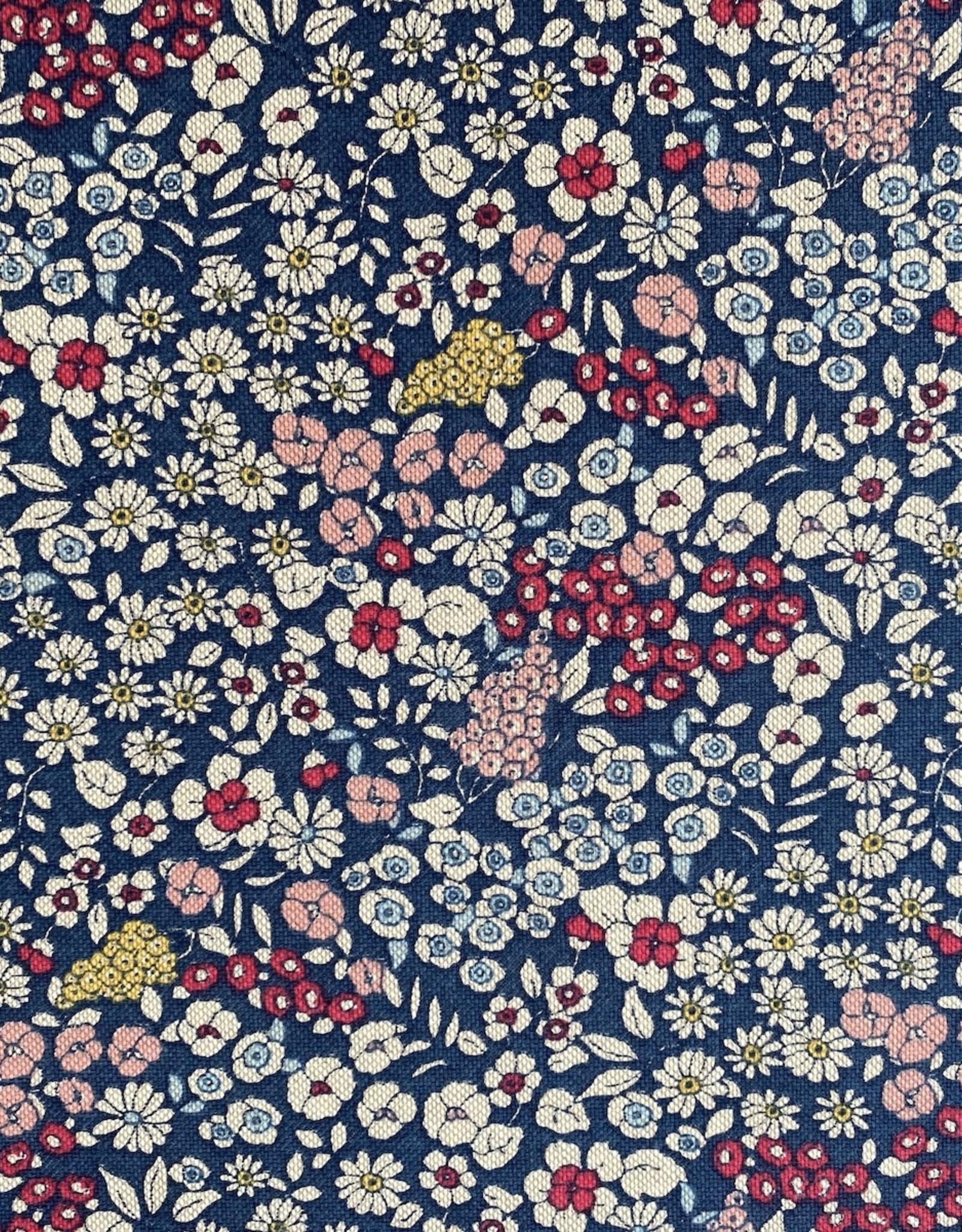 Canvas - Little flowers - Blue