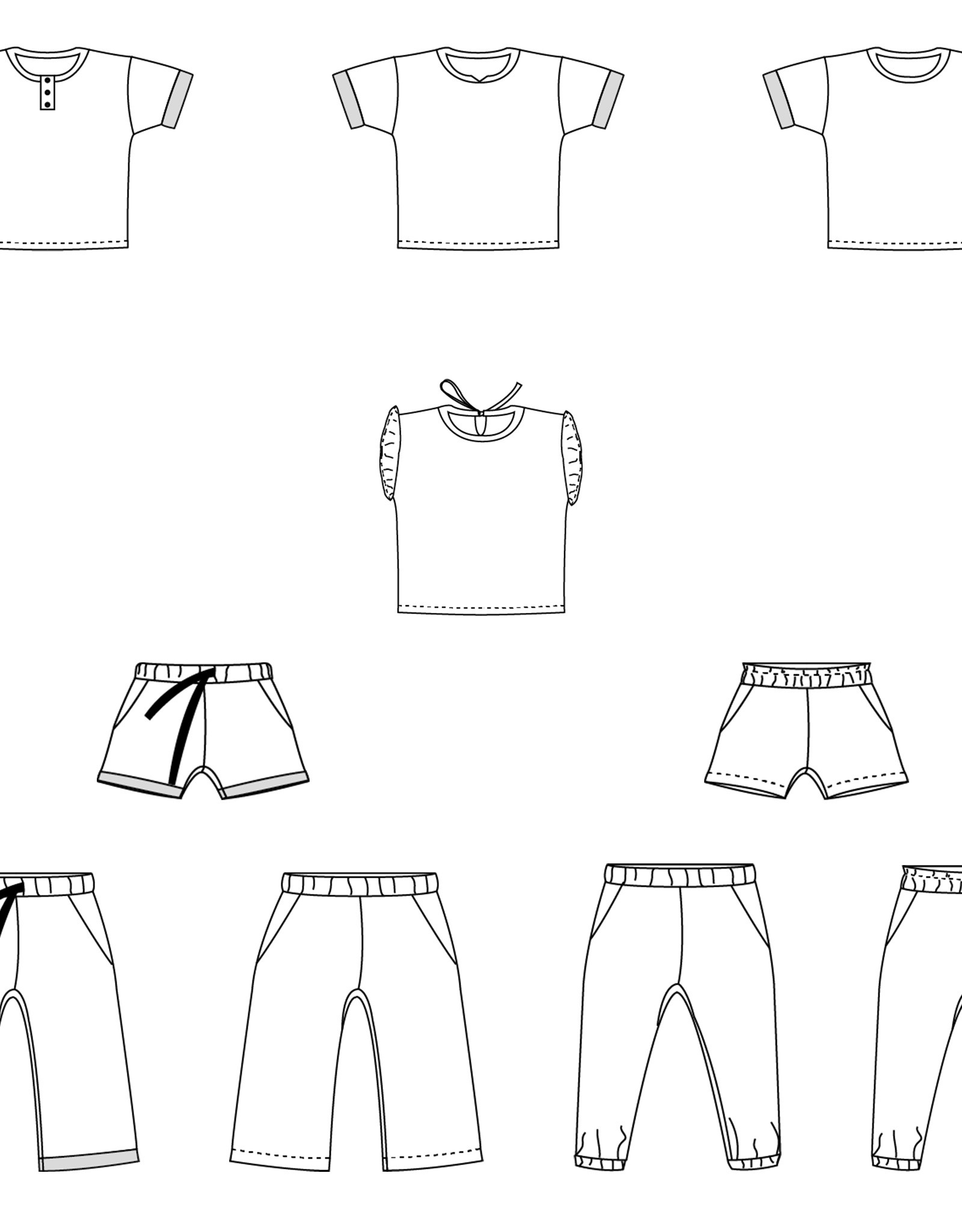Bel'etoile Patroon - Nio/Nia short, shirt en broek