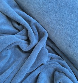 Rekbare badstof - Spons - Jeansblauw