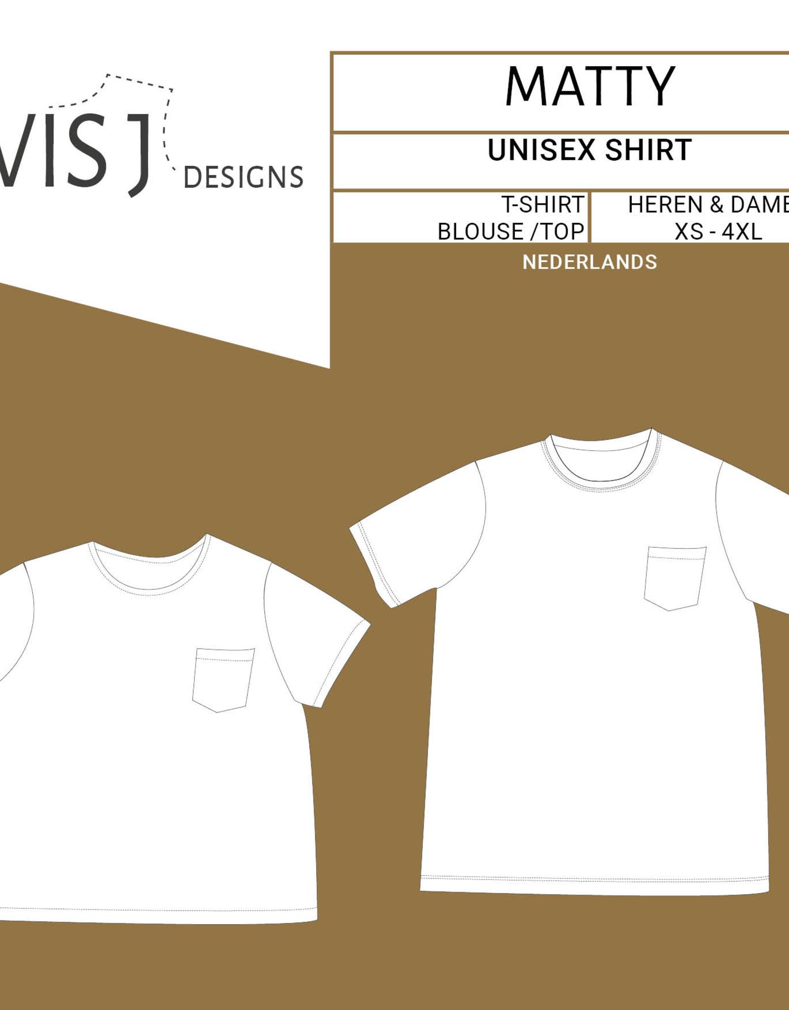 WISJ Patroon WISJ - Matty - Unisex Tshirt