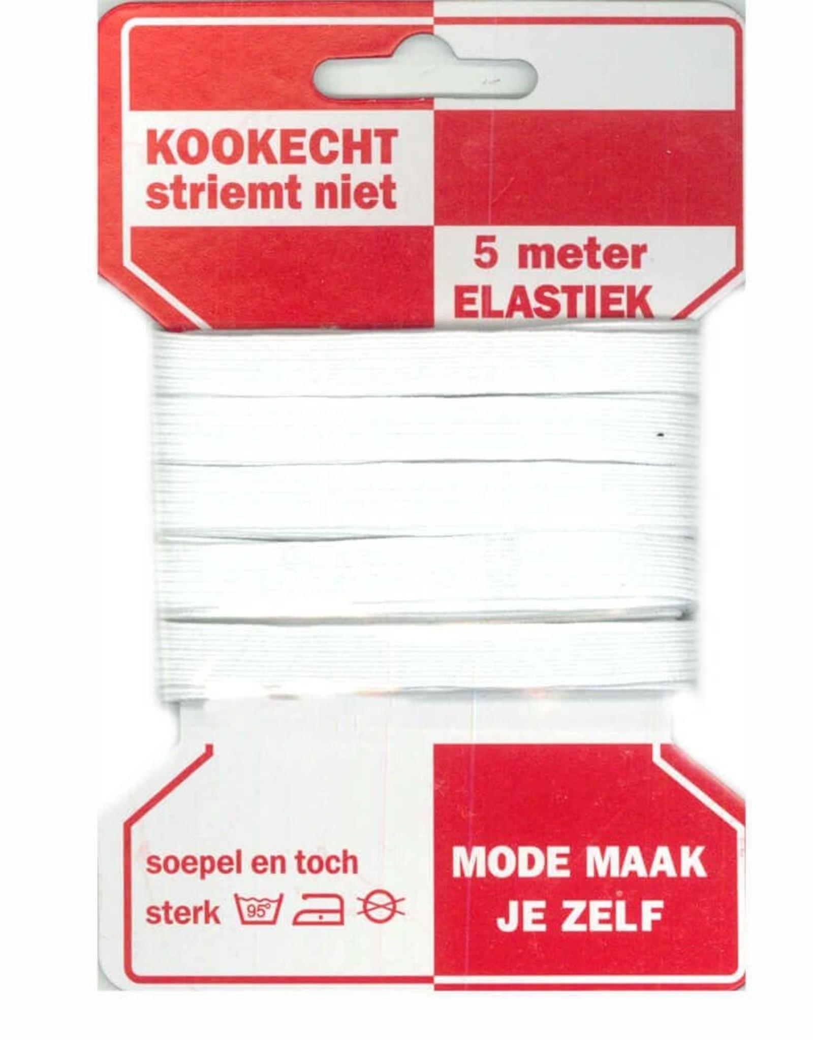 Elastiek  - wit 10mm - 5m