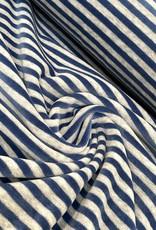 Nicky Velours - Streep - Jeans Blauw