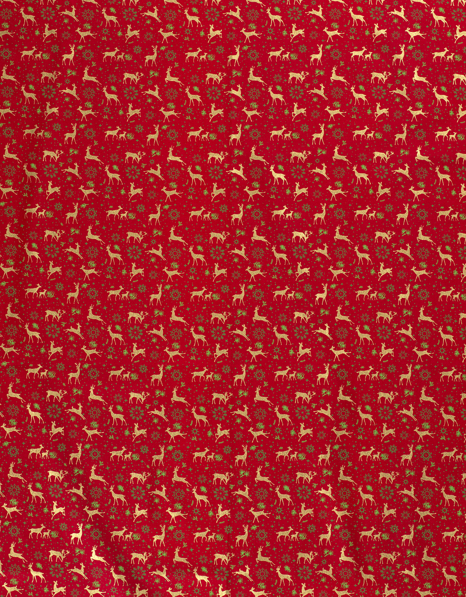 Katoen - Kerst Hertjes - Rood