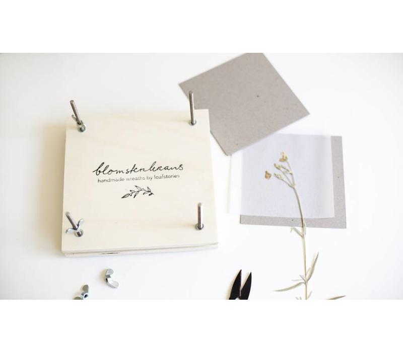 Flowerpress with Blomsterkrans logo