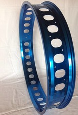 "cut-out rim RM100, 26"", blue anodized, 32 spoke holes, round cut-outs"