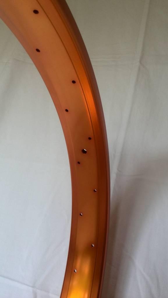 """Alufelge DW65, 26"""", orange eloxiert"""