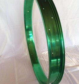 """Alufelge RM65, 24"""", grün eloxiert"""