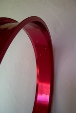 """alloy rim RM100, 26"""", red anodized"""