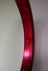 """alloy rim RM65, 26"""", red anodized"""