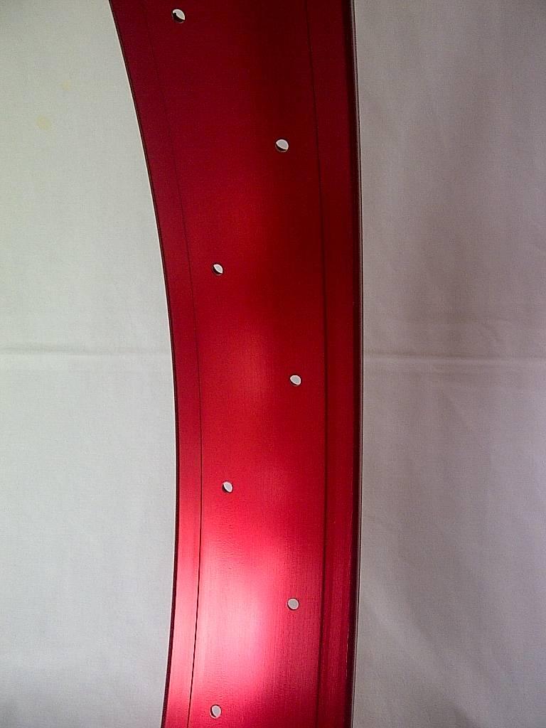 """Hohlkammerfelge DW80, 26"""", rot eloxiert, 32 Loch"""