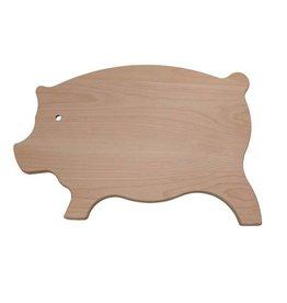 Speelse snijplank in de vorm van een varken, 45 x 30 x 2 cm