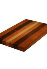 Serveerplank contrasterende houtsoorten 40 x 25 x 3 cm