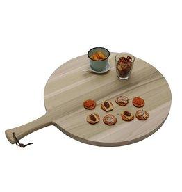 Ronde serveerplank met greep, Ø49 x 2,5 cm
