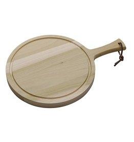 Serveerplank rond met greep, Ø19 x 2 cm