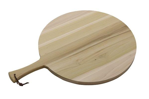 Ronde serveerplank met greep Ø49 x 2,5 cm (66 cm incl. greep)