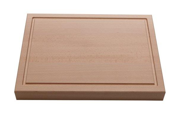 Zwaar uitgevoerde snijplank 40 x 30 x 4,5 cm