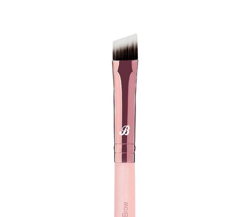 Boozyshop Pink & Rose Gold Angled Brow Brush