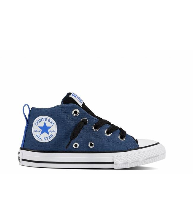 CHUCK TAYLOR ALL STAR STREET - MID - MASON BLUE BLACK WHITE -  Sneakable b68ab5d17