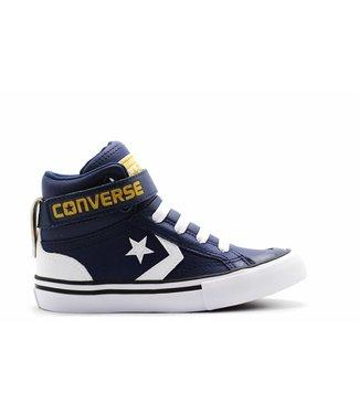 Converse PRO BLAZE STRAP - HI - NAVY/WHITE/MINERAL YELLOW