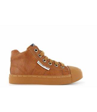Shoesme Shoesme cognac sneakers met rubberneus