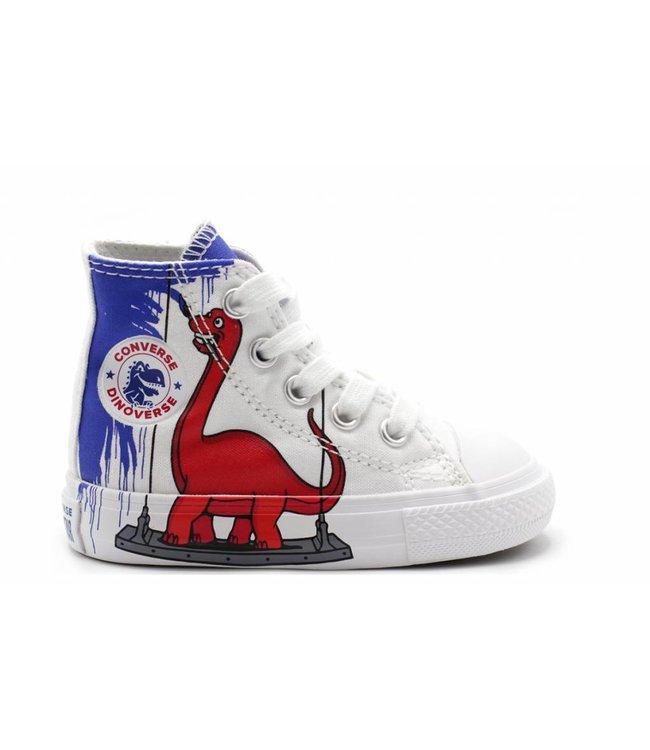 Converse CHUCK TAYLOR ALL STAR - HI - WHITE/BLUE/ENAMEL RED