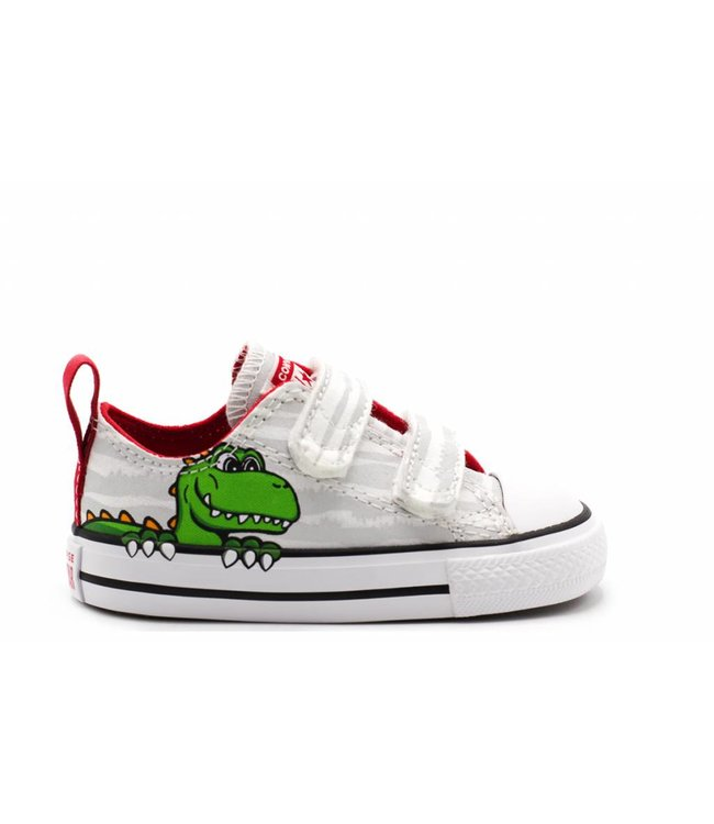 Converse CHUCK TAYLOR ALL STAR 2V DINOVERSE - OX - WHITE MOUSE ENAMEL RED cbc73a873a