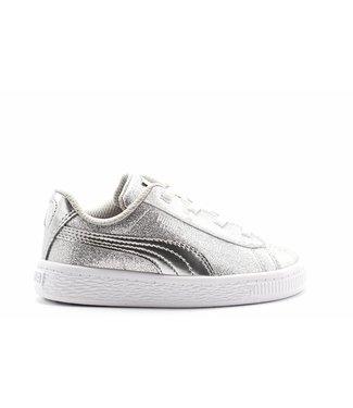 Puma Basket Metallic AC Inf / Puma Silver-Gray Violet-White