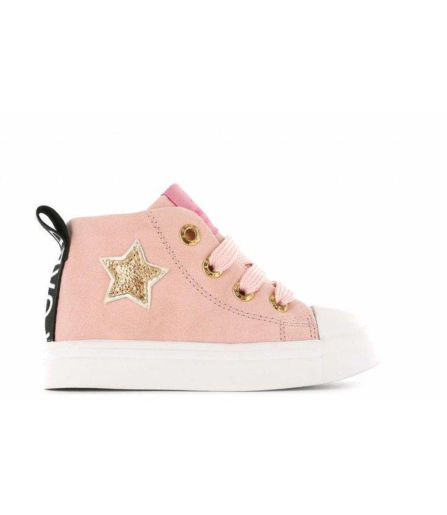 Shoesme PINK STAR MICRO LEER