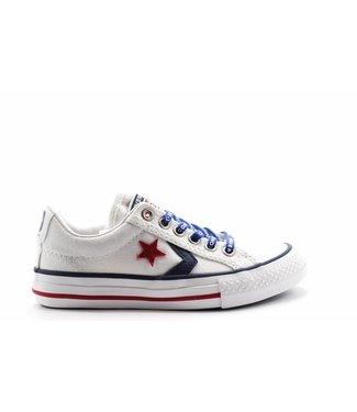 Converse STAR PLAYER EV - OX - WHITE/NAVY/GYM RED