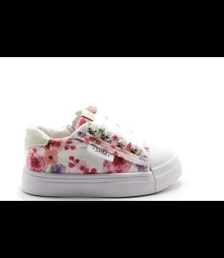 Shoesme Shoesme Flower sneaker met allover bloemenprint