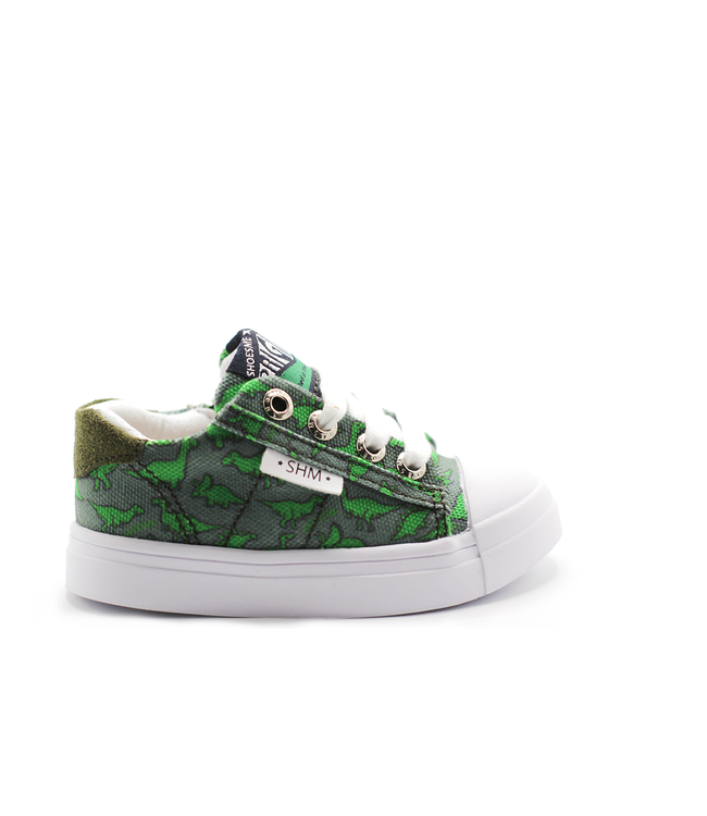 Shoesme Shoesme grijze lage sneaker met dinoprint