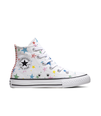 Converse CHUCK TAYLOR ALL STAR - HI - WHITE/FIERY RED/BLACK