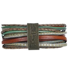 Pimps and Pearls Moesss Superior Armband 74 Metallic Vintage Green