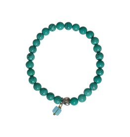 Pimps and Pearls Moesss Rocks Heart 03 Turquoise