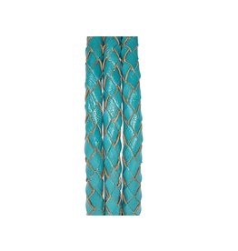 Pimps and Pearls Moesss2 Leder Edelstaal 09 Turquoise