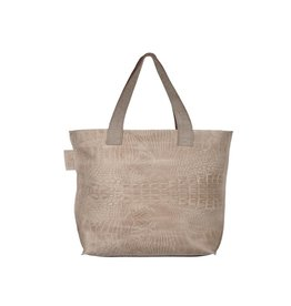 Pimps and Pearls Tasss 12 - Shopper Lys Croco 01 Sand
