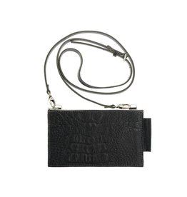 Pimps and Pearls Tasss 14 Travel Pouch Croco 01 Black
