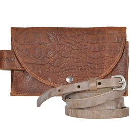 Pimps and Pearls Tasss 8 - Smart/Wallet/Clutch Croco 02 Mocca